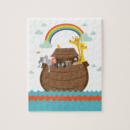 Happy Christian Kids Puzzle Bible Story Noah's Ark Legpuzzel