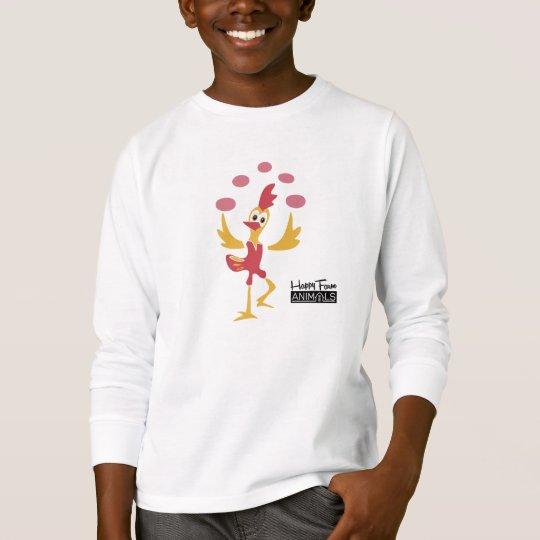 Happy Farm Animal Chicken with Eggs _ YV T Shirt