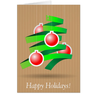 Happy Holidays Wenskaart