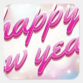 Happy-New-Year Ballons Vierkante Sticker
