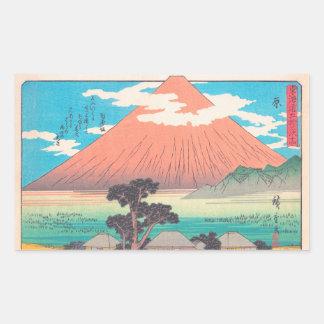 Hara, van reeks Drieënvijftig hokaido van Posten Rechthoekige Sticker