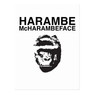 Harambe McHarambeface Briefkaart