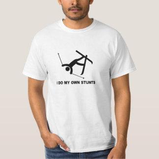 "hardcore ski ""ik doe al mijn eigen stunts"" t shirt"