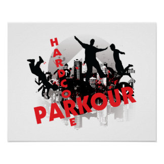 Hardcore Stad van Parkour Grunge Poster