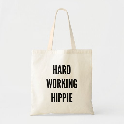 Harde het Werk Hippie Canvas Tas