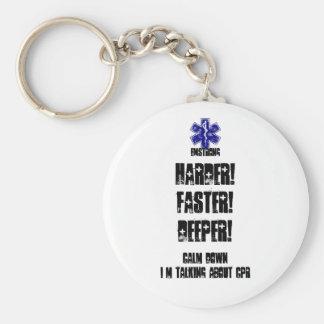 Harder sneller Diepere Rust die neer over CPR Sleutelhanger