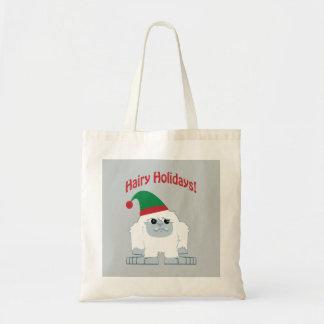 Harig Vakantie! De Yeti van Kerstmis Budget Draagtas