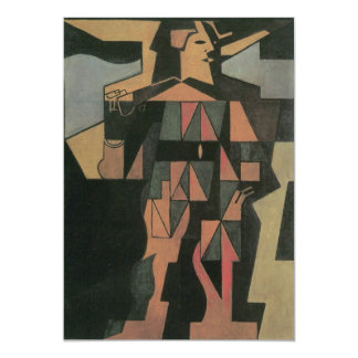 Harlekijn door Juan Gris, Vintage Kubisme Persoonlijke Uitnodigingen