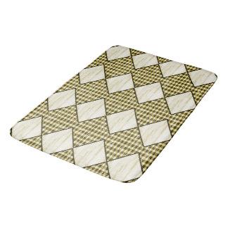 Harlekijn-room-houten-diamant-bruin-gingang Badmat