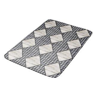 Harlekijn-room-houten-diamant-zwart-gingang Badmat