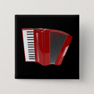 Harmonika: Rode Harmonika Vierkante Button 5,1 Cm