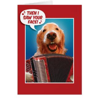 Harmonika-Spelend van de Valentijnsdag Golden Briefkaarten 0