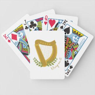 Harp op het bicycle speelkaarten