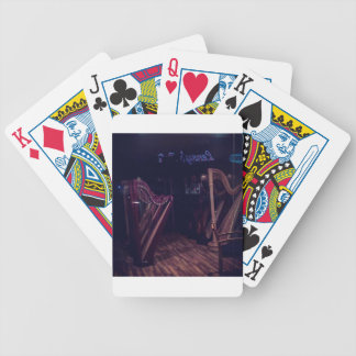 Harpen in schaduw poker kaarten
