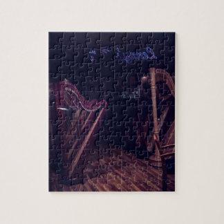 Harpen in schaduw puzzel