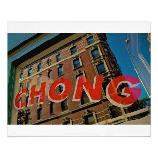 Harry Chong Chinese Laundry-Greenwich Village NYC Foto Afdruk