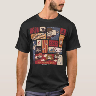 Harry Potter Cartoon Scenes Pattern T Shirt