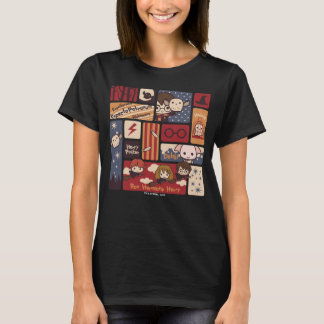 Harry Potter Cartoon Scenes Pattern T Shirt