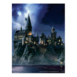 Harry Potter Castle | Maanbeschenen Hogwarts Briefkaart