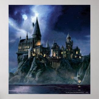 Harry Potter Castle | Maanbeschenen Hogwarts Poster