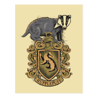 Harry Potter | CREST Hufflepuff met Das Briefkaart