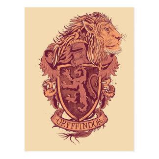 Harry Potter | CREST van de Leeuw Gryffindor Briefkaart