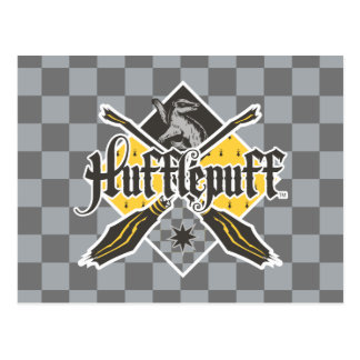 Harry Potter | CREST van Hufflepuff Quidditch Briefkaart