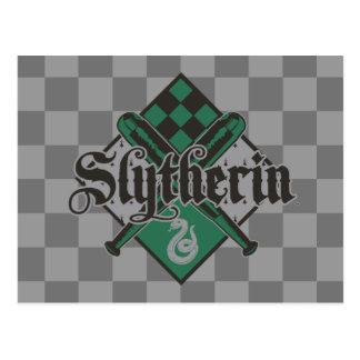 Harry Potter | CREST van Slytherin Quidditch Briefkaart