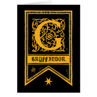 Harry Potter   de Banner van het Monogram Wenskaart