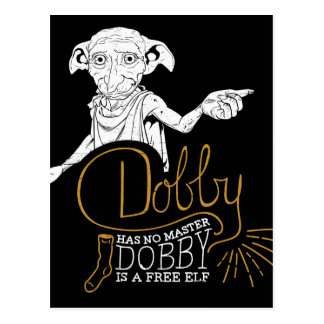 Harry Potter | Dobby heeft Geen Meester Briefkaart