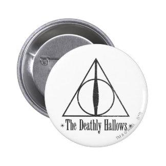 Harry Potter | Dodelijk zegent Embleem Ronde Button 5,7 Cm