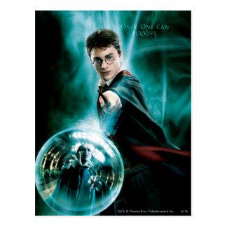 Harry Potter en Voldemort slechts kunnen overleven Briefkaart