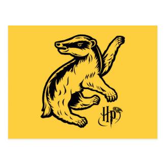 Harry Potter | het Pictogram van de Das Hufflepuff Briefkaart