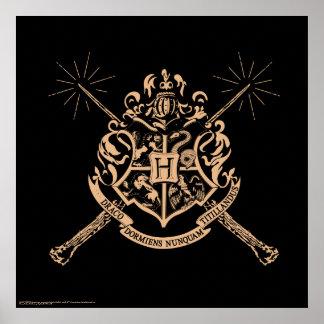 Harry Potter | Hogwarts Gekruist CREST van Poster