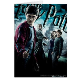 Harry Potter met Dumbledore Ron en Hermione 1 Wenskaart