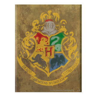 Harry Potter | Rustiek CREST Hogwarts Briefkaart