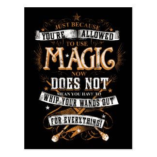 Harry Potter Spell | enkel omdat u T wordt Briefkaart