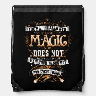 Harry Potter Spell | enkel omdat u T wordt Trekkoord Rugzakje