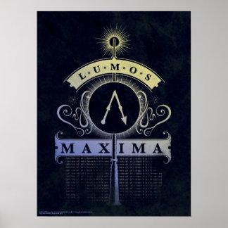 Harry Potter Spell | Grafische Maxima Lumos Poster