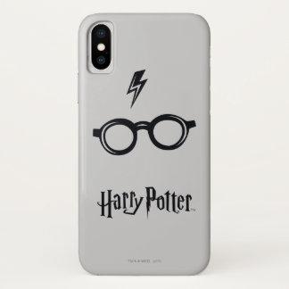Harry Potter Spell | het Litteken en de Glazen van iPhone X Hoesje