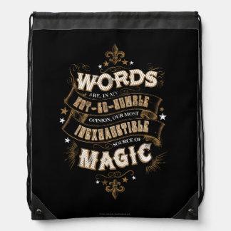 Harry Potter Spell | Woorden is het Onze Meeste Trekkoord Rugzakje