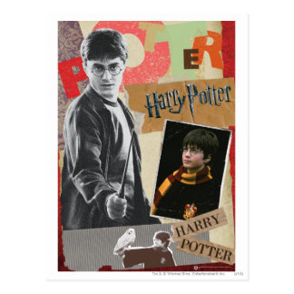 Harry Potter Then en nu Briefkaart
