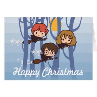 Harry, Ron, & Hermione die in Kerstmis van het Bos Kaart