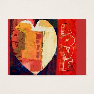 Hart ACEO van de Valentijnsdag van de Liefde van Visitekaartjes