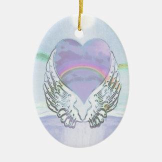 Hart, de Vleugels van de Engel & Oceaan Keramisch Ovaal Ornament