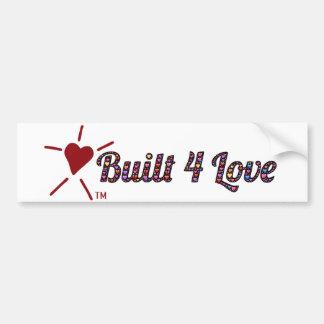 Hart-gevulde emoji-kunst, Built4Love en logo Bumpersticker