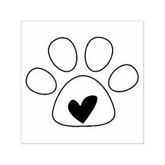 Hart in de Zegel van de Liefde van de Hond van de Zelfinktende Stempel