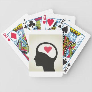 Hart in een hoofd bicycle speelkaarten