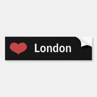 Hart Londen Bumpersticker
