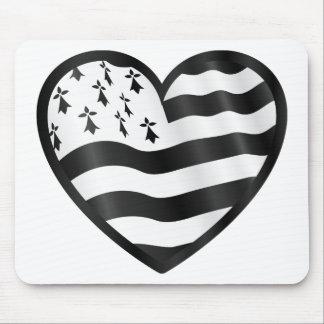 Hart met binnen vlag Bretin Muismatten